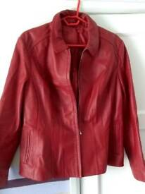 M&S size 20 women's leather jacket