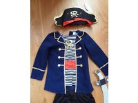 Children's Kids Fancy Dress Costume – Pirate with Hat and cutlass as new, age 3-5