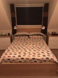 Bed frame and slatted bed