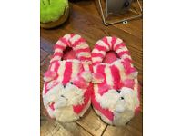 Microwaveable Lavender Bagpuss Slippers NEW