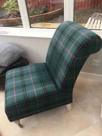 Green tartan chair