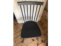 dining chairs Windsor style dark grey brand new