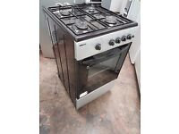 Beko SG562S 50cm Wide Single Cavity Gas Cooker in silver color