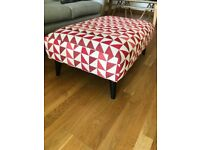 French Connection Patterned Large Footstool