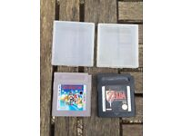 Two retro gameboy games