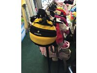Bumble bee back pack reins