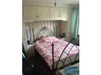 Gothic style 4ft6 double bed frame and matching bedside stands