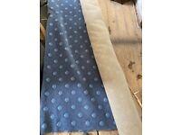Vintage retro large blue patterned high quality woven carpet
