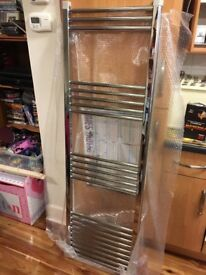 2 BNIB NEW UNUSED BATHROOM TOWEL 500 X 1600 MM LADDER RADIATOR RADIATORS CHROME WALL MOUNT