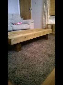 Railway sleeper style coffee table