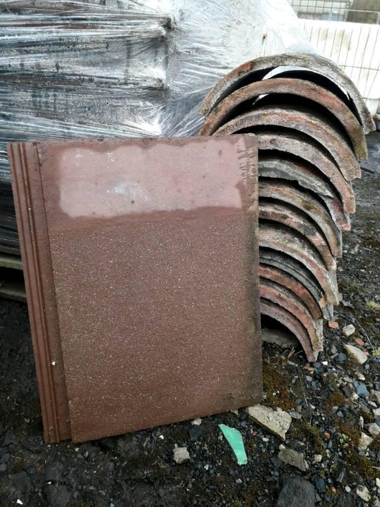 Brown flat second hand tiles