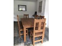 Solid Pine 6 seat dining