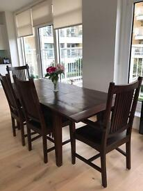 LOMBOK DINNING TABLE WITH CHAIRS AND BENCH was £4500