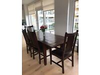 LAMBOK DINNING TABLE WITH CHAIRS ANS BENCH