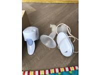 Philips single electric breast pump and bottles