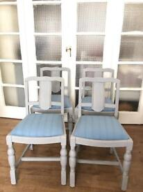 SET 4x VINTAGE CHAIRS FREE DELIVERY LDN🇬🇧SHABBY CHIC no TABLE