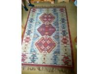 2 x woollen rugs