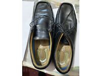 Airsoft Men's Leather Exclusive Black Shoes Size 9