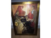 Canvas painting - musical jazz picture