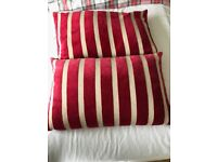 Red Stripy Cushions