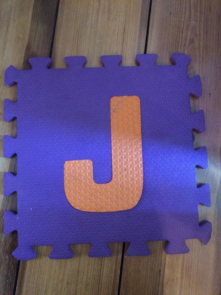 Rubber tiles alphabet
