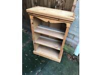 Solid pine set shelves