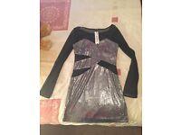 Black/silver mini dress