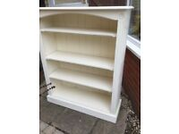 Cream Painted Pine Bookcase