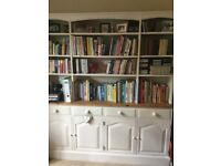 "Pine Bookcase unit, very large 6' wide x 6'8"" h x 18""depth"