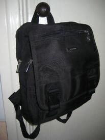 Continental Black Fabric Shoulder Bag