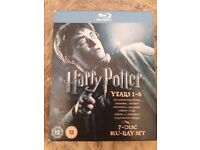 Harry potter dvds blu-ray