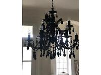 Black Crystal Glass Chandelier