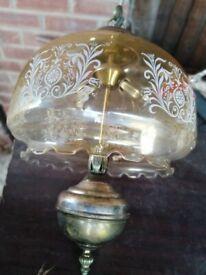 2 identical vintage light fixtures