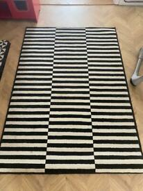 Black white rug large