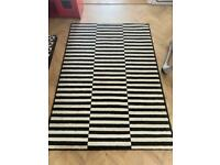 Black white rug large