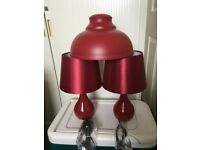 Table lamps Bedside Pair, Pendant Lamp shade, plus Scatter cushion