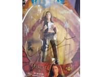 3 farscape action figures signed