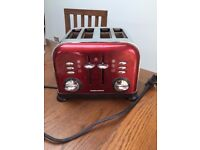 Toaster - Morphy Richards- RED accents 4 slice