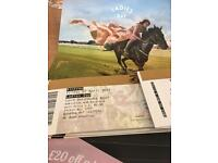 Premium Aintree ladies day tickets. Face value