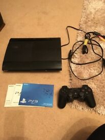Fully working PlayStation 3. 1 remote with it, all wires and instructions. No box.