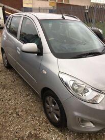 Hyundai I10, Manual,1.2L, 2013, 5Doors, MOT Aug.18, Full Dealer's S. History, CL, PAS, Silver, £4000