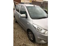 Hyundai I10, Manual,1.2L, 2013, 5Doors, MOT Aug.18, Full Dealer's S. History, CL, PAS, Silver, £4000