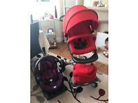 Stokke xplory Pram with izi go car seat and isofix base