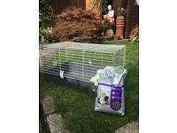 FERPLAST 100 GUINEA PIG/SMALL RABBIT CAGE & NUGGETS