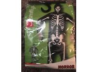 Large skeleton costume never worn