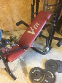 V-fit weights bench