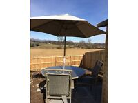 Leisuregrow textaline patio set and swing seat