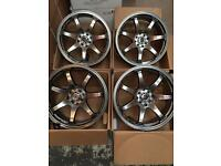 17 inch GTR SPORT ALLOY WHEELS ALLOYS/RIMS, Racing fits HONDA - NISSAN - RENAULT - FIAT - and more