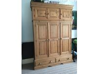Wardrobe solid wood very large