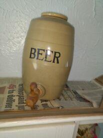 Vintage Moira pottery salt glazed stoneware beer flagon or barrel